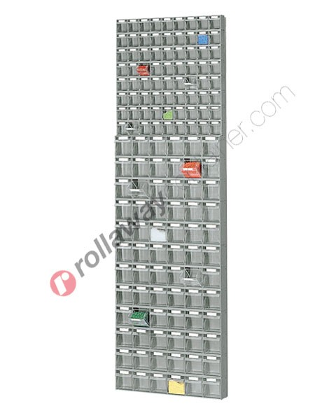 Telaio da parete con cassettiere mm 600 x 113 H 1950 cassetti 144 totali