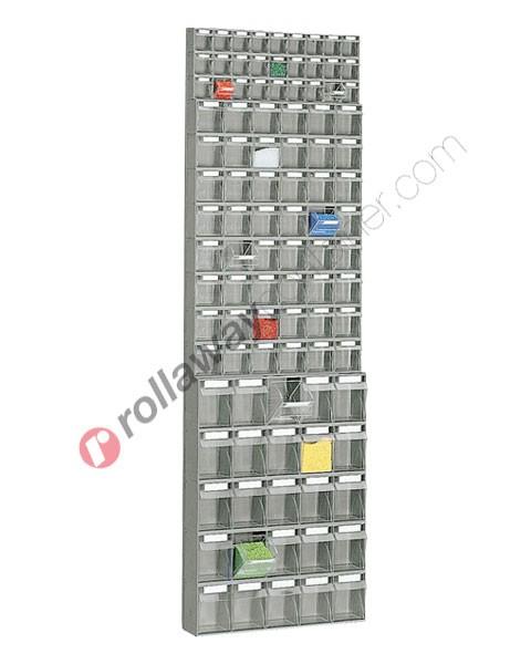 Telaio da parete con cassettiere mm 600 x 156 H 1950 cassetti 100 totali