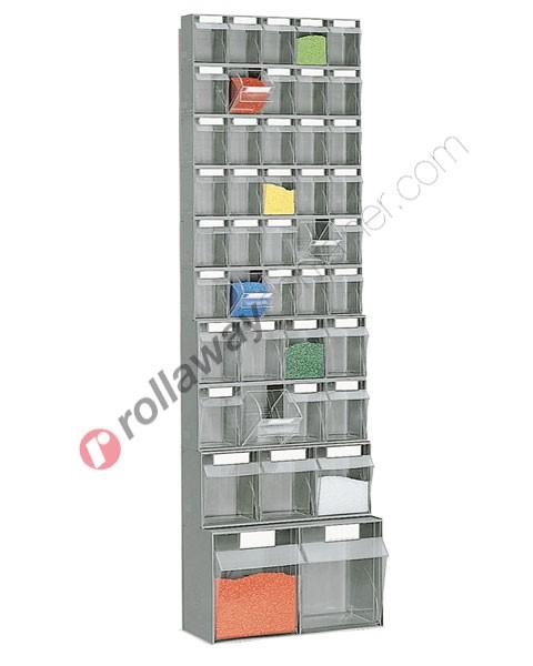 Telaio da parete con cassettiere mm 600 x 326 H 1989 cassetti 43 totali
