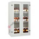 Armadio per prodotti chimici non infiammabili con 2 ante a vetro 1140 x 600 H 1950 mm