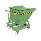 Benna ribaltabile per muletto e da terra con 4 ruote portata 1000 kg