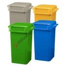 Bidoni spazzatura differenziata da 70 litri con maniglie per svuotamento manuale