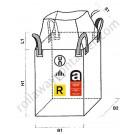 Big bag omologati amianto con apertura a caramella e fondo chiuso