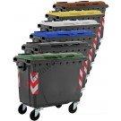 Cassonetti raccolta differenziata spazzatura, rifiuti e immondizia da 660 litri con 4 ruote