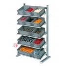 Configura la tua scaffalatura mm 1067 x 542/925 H 1817 per cassette in plastica