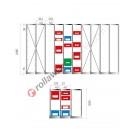 Configura la tua scaffalatura per cassette in plastica 500/450 x 300 mm