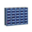 Configura la tua scaffalatura sovrapponibile H 1300 mm per cassette a bocca di lupo