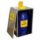 Contenitore in acciaio per alloggiamento fusti da 120 litri OilBox