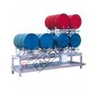 Stazione di stoccaggio per fusti olio con vasca di raccolta da 400 litri