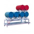 Stazione di stoccaggio per fusti olio con vasca di raccolta da 268 litri