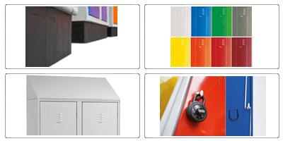 Accessori armadio ufficio in metallo H 180 cm 2 ante 4 ripiani con serratura