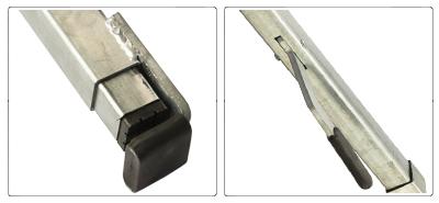 Accessori barra fermacarico telescopica orizzontale in acciaio