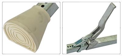 Accessori barra o palo fermacarico quadrata telescopica in acciaio zincato