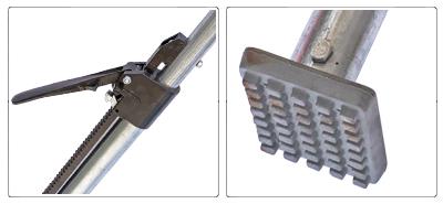 Accessori barra o palo fermacarico tonda telescopica in acciaio zincato
