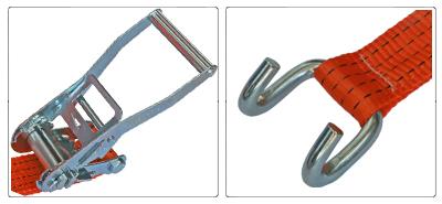 Accessori cinghia a cricchetto per fissaggio e fermacarico da 50 mm con gancio sponda