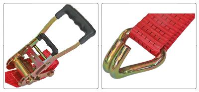 Accessori cinghia a cricchetto per fissaggio e fermacarico da 50 mm con gancio uncino