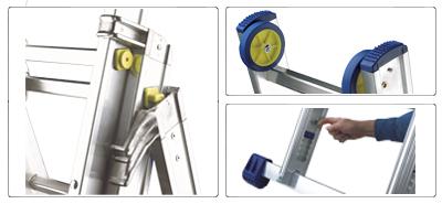 Accessori scala allungabile a 2 rampe professionale alta gamma De Luxe
