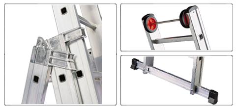 Accessori scala allungabile a 2 rampe professionale Euro