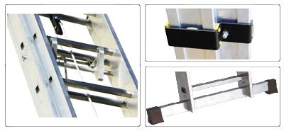Accessori scala allungabile con fune a 2 rampe professionale Euro