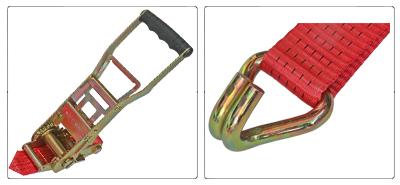 Accessori cinghia a cricchetto ergonomico per fissaggio e fermacarico da 50 mm con gancio uncino