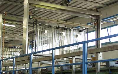 Impianto di zincatura roll container