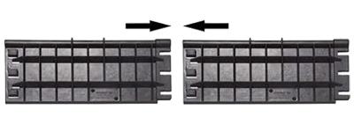 Sistema di aggancio angolari in plastica di protezione per cinghie di fissaggio resistente alle distorsioni
