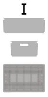 Cassetta in plastica configurazione I
