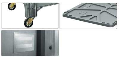 Accessori per contenitore in plastica 1040 x 640 H 670 medio litri 285