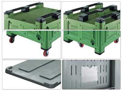 Accessori per bins in plastica 1200 x 1000 H 760 pesante litri 680 forato