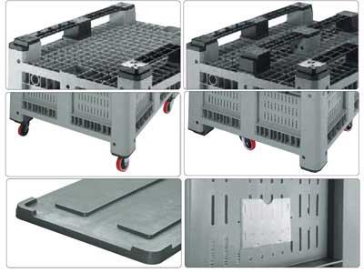 Accessori per contenitore in plastica 1200 x 1000 H 580 pesante litri 430 forato