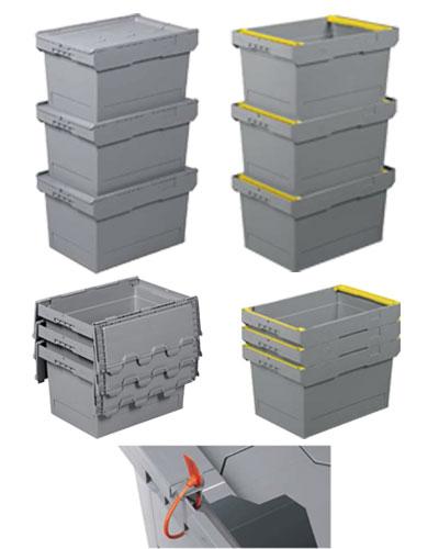 Accessori cassetta in plastica inseribile e sovrapponibile 600 x 400 H 425 mm