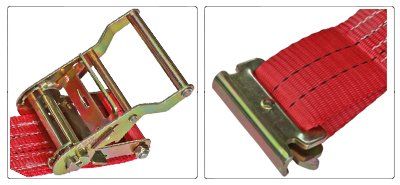 Accessori cinghia a cricchetto per fissaggio e fermacarico da 50 mm con gancio tendex