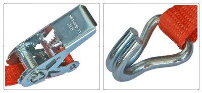 Accessori cinghia a cricchetto per fissaggio e fermacarico da 25 mm con gancio uncino