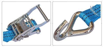 Accessori cinghia a cricchetto per fissaggio e fermacarico da 35 mm con gancio uncino