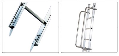 Accessori scala agricola da appoggio professionale con piantone Agriluxe