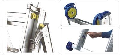 Accessori scala allungabile a 3 rampe professionale alta gamma De Luxe