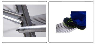 Accessori scala a palco professionale con piattaforma e gradini maggiorati