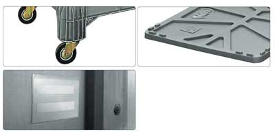 Accessori per contenitore in plastica 1030 x 600 H 840 medio litri 400