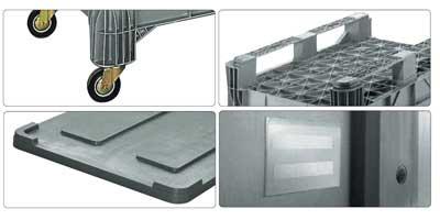 Accessori per contenitore in plastica 1200 x 800 H 800 medio litri 550