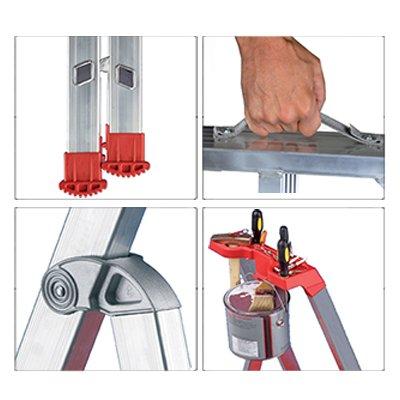 Dettagli scala alluminio pieghevole professionale Marea