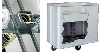 Dettagli carrello portabiancheria per lavanderie in alluminio fondo mobile