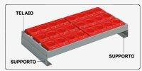 Supporti telaio portaboccole armadio portautensili 1023x555 H 2000 2 ante battenti
