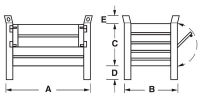 Dimensioni contenitore in lamiera piccolo con piedi scatolati e porta in lamiera