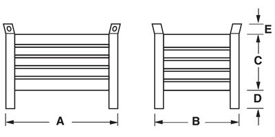 Dimensioni contenitore in lamiera piccolo con piedi scatolati