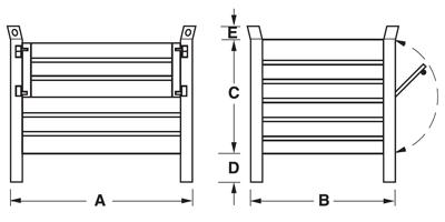 Dimensioni contenitore in lamiera con piedi scatolati e porta in lamiera