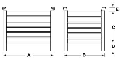 Dimensioni contenitore in lamiera con piedi scatolati
