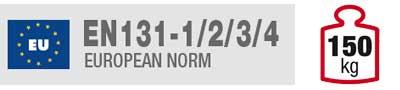 Certificazione EN131-1/2/3/4 scale alluminio