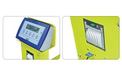 Dettagli transpallet con bilancia kg 2500 Pramac GS/P 1185 x 555 mm con display LCD e stampante